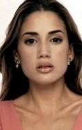 Actress Ana La Salvia, filmography.
