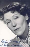 Actress Karin Evans, filmography.