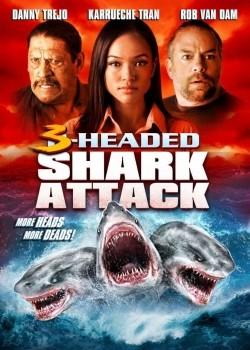 3 Headed Shark Attack - wallpapers.